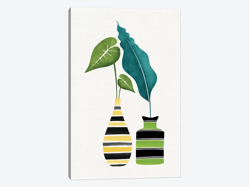 Pop Greenery by Modern Tropical 1-piece Canvas Art Print