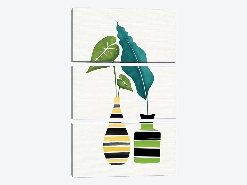 Pop Greenery by Modern Tropical 3-piece Art Print