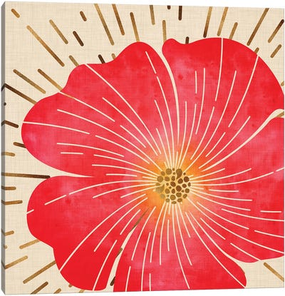 Red Hibiscus Canvas Art Print