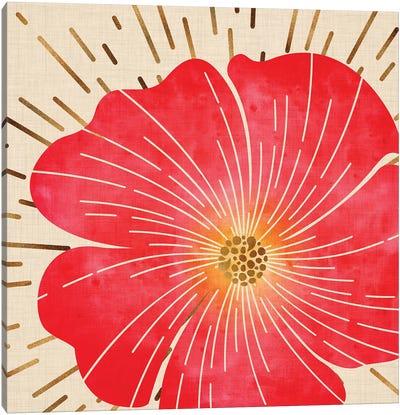 Red Hibiscus Canvas Art Print