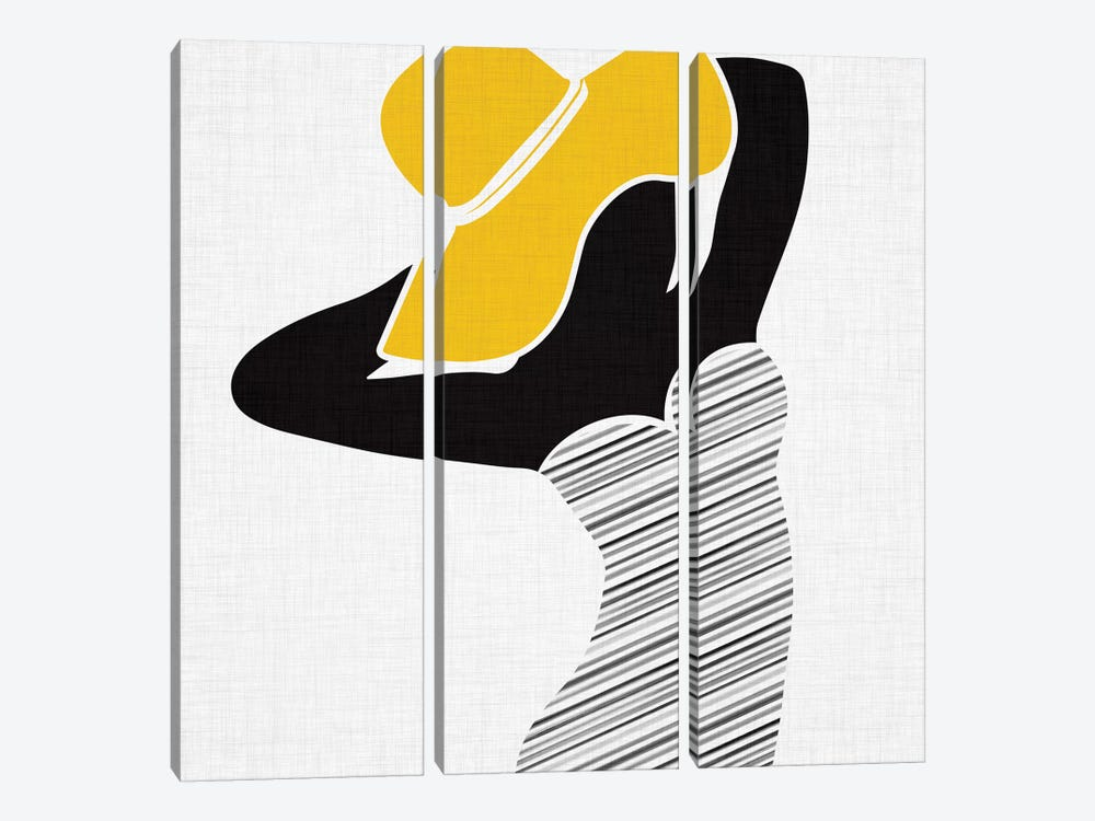 Retro Beach Beauty II by Modern Tropical 3-piece Canvas Art Print