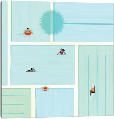 Saturdays At The Pool Canvas Art Print