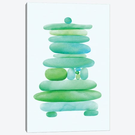 Seaglass Cairn Canvas Print #MTP59} by Modern Tropical Art Print