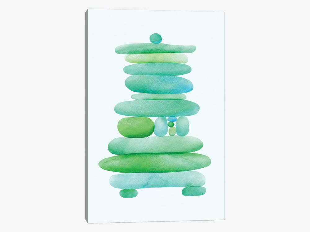 Seaglass Cairn by Modern Tropical 1-piece Canvas Artwork