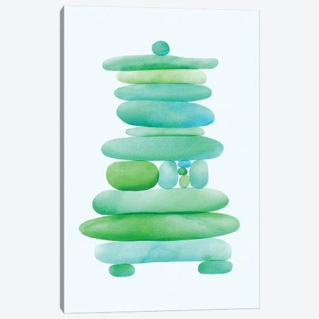 Seaglass Cairn Canvas Print #MTP59} by Modern Tropical Art Print