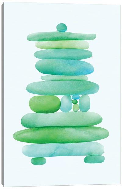 Seaglass Cairn Canvas Art Print