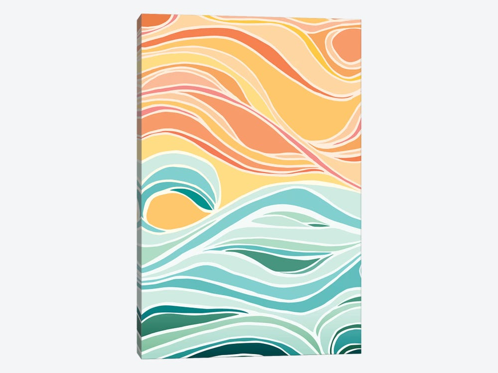 Sky And Sea Abstract by Modern Tropical 1-piece Canvas Print