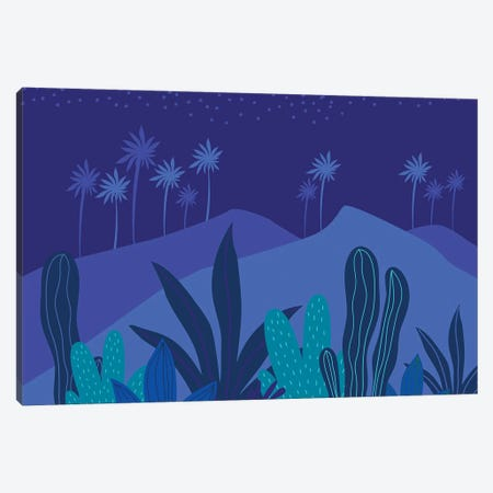 Starry Night Canvas Print #MTP62} by Modern Tropical Canvas Art