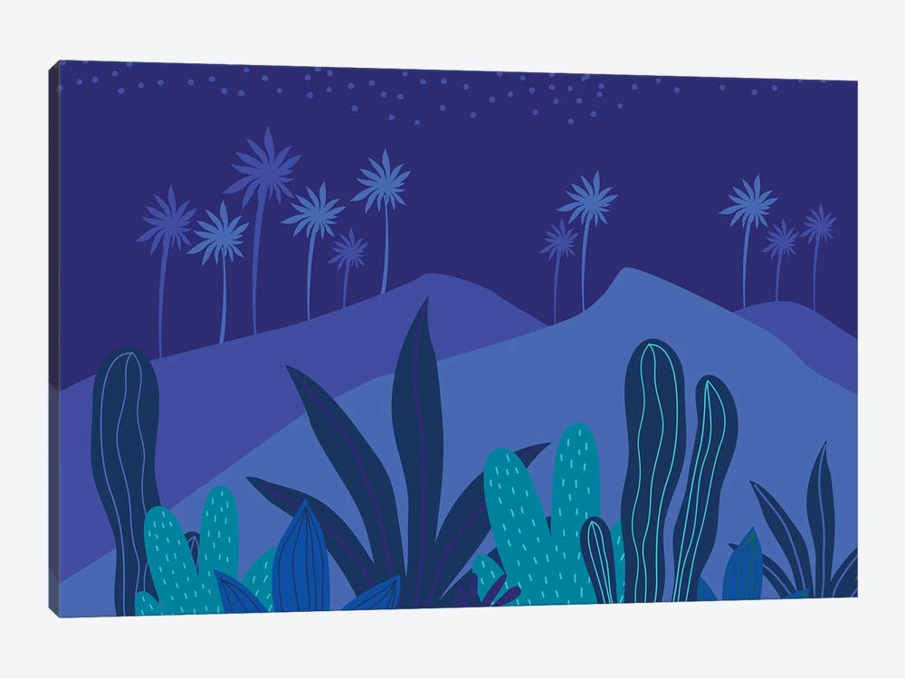 Starry Night by Modern Tropical 1-piece Canvas Art