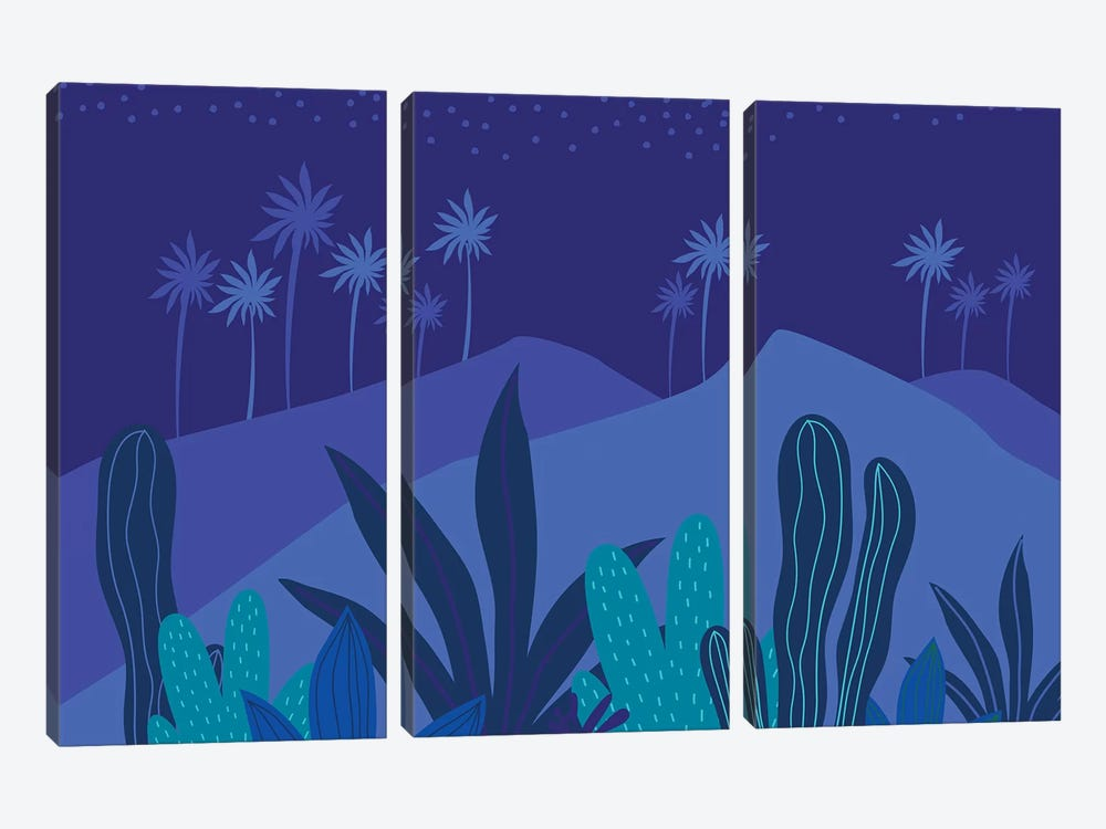 Starry Night by Modern Tropical 3-piece Canvas Wall Art