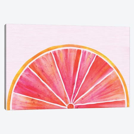 Sunny Grapefruit Canvas Print #MTP65} by Modern Tropical Canvas Print