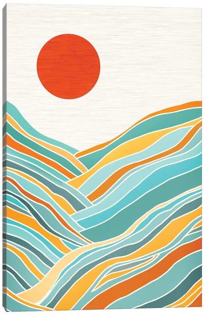 Sunset Landscape Canvas Art Print
