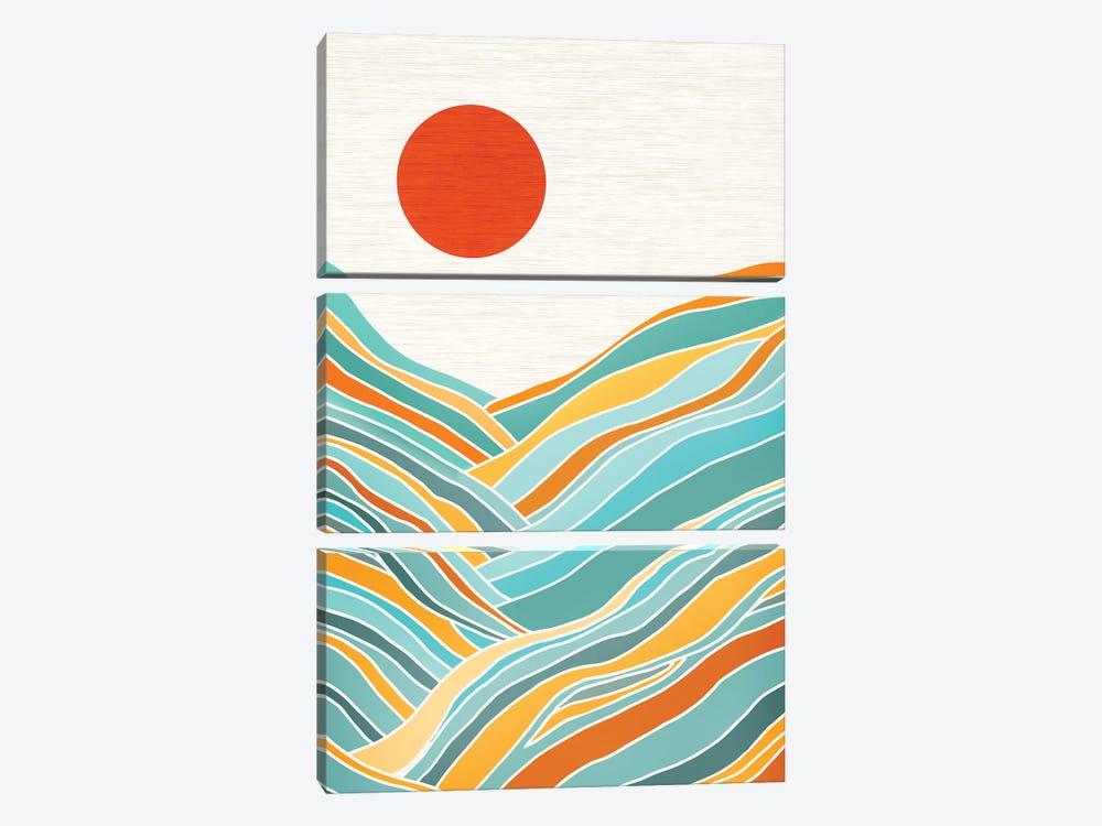 Sunset Landscape by Modern Tropical 3-piece Canvas Art