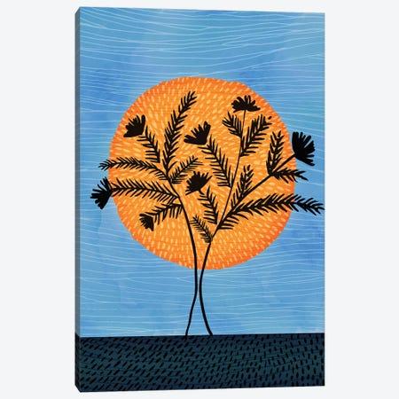Sunset Silhouette Canvas Print #MTP67} by Modern Tropical Canvas Art Print