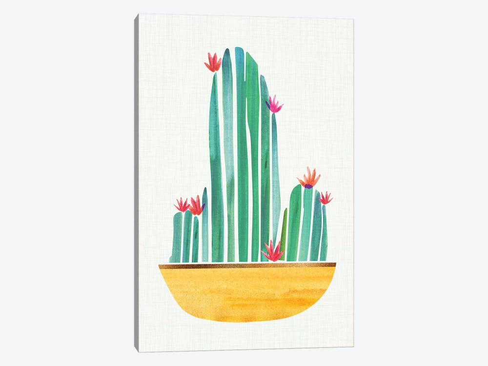 Tiny Cactus Blossoms II by Modern Tropical 1-piece Canvas Art Print