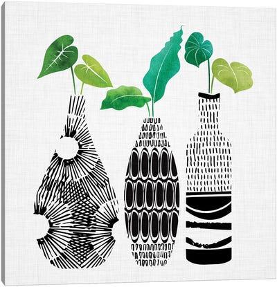 Tribal Vases Trio Canvas Art Print