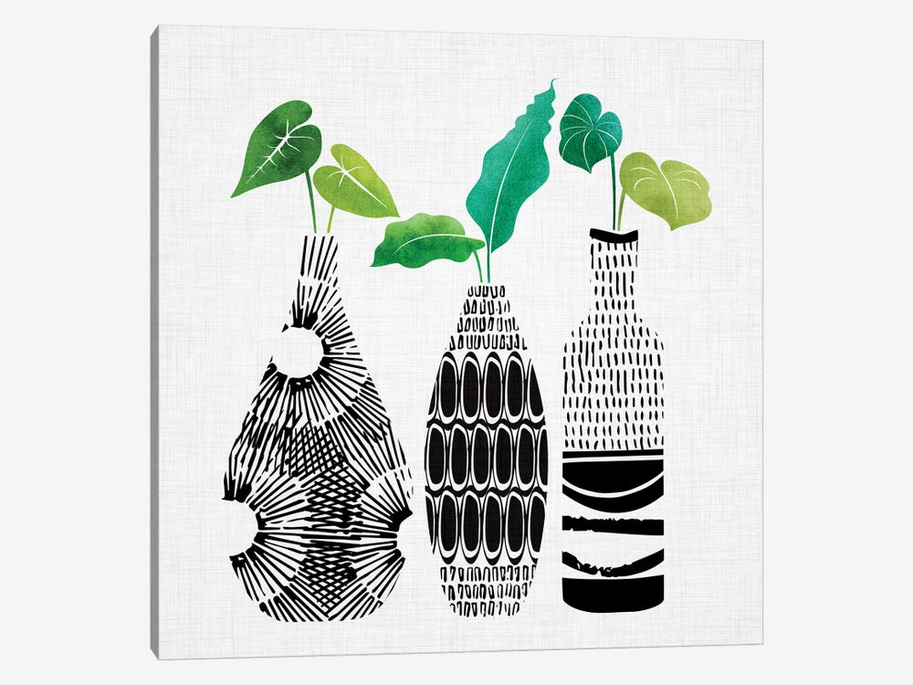 Tribal Vases Trio by Modern Tropical 1-piece Canvas Wall Art
