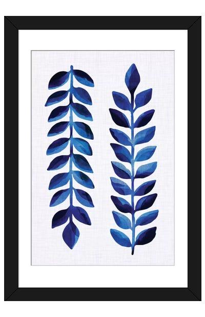 Tropical Indigo Framed Art Print