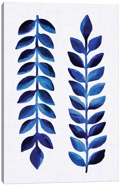 Tropical Indigo Canvas Art Print