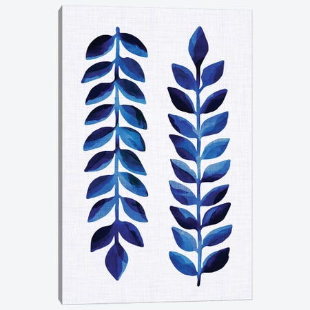 Tropical Indigo Canvas Print #MTP73} by Modern Tropical Canvas Print