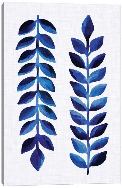 Tropical Indigo Canvas Art Print