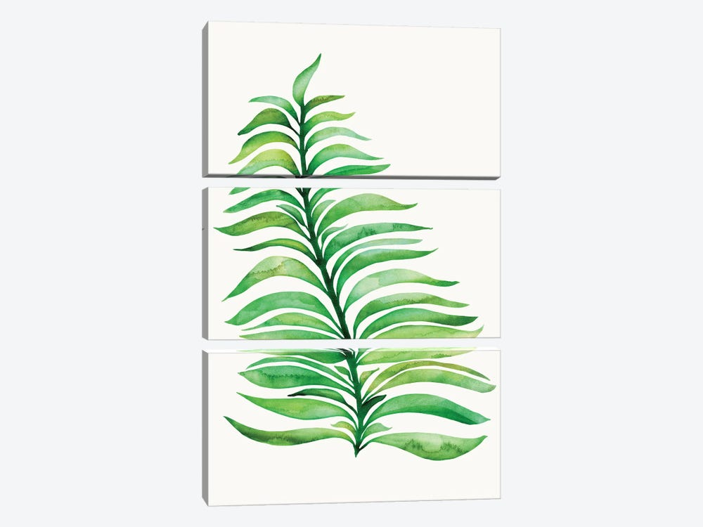 Tropical Leaf Print by Modern Tropical 3-piece Canvas Wall Art
