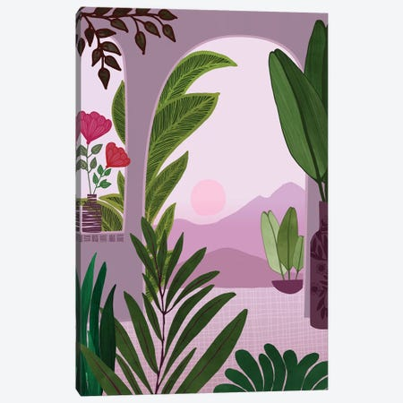 Tropical Morning Canvas Print #MTP76} by Modern Tropical Canvas Wall Art