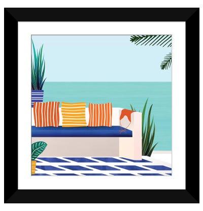 Tropical Villa On The Sea Framed Art Print