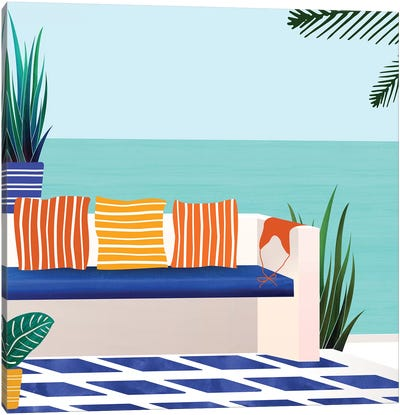 Tropical Villa On The Sea Canvas Art Print