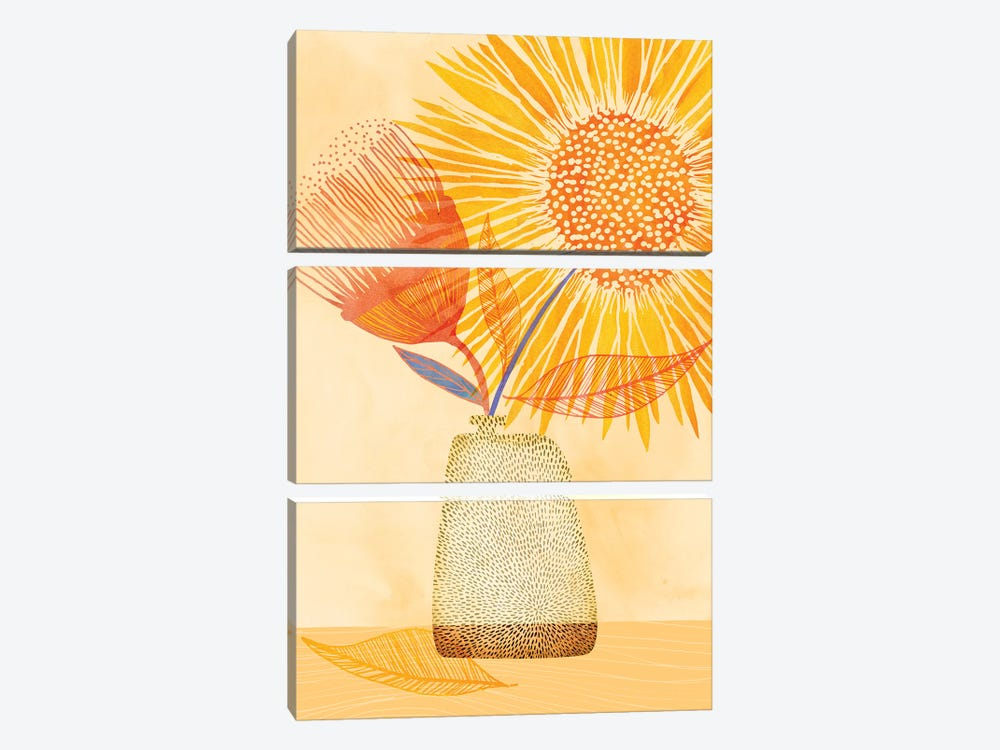 Tuesday Afternoon by Modern Tropical 3-piece Canvas Art Print