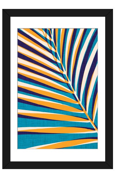 Abstract Palm Leaf Framed Art Print