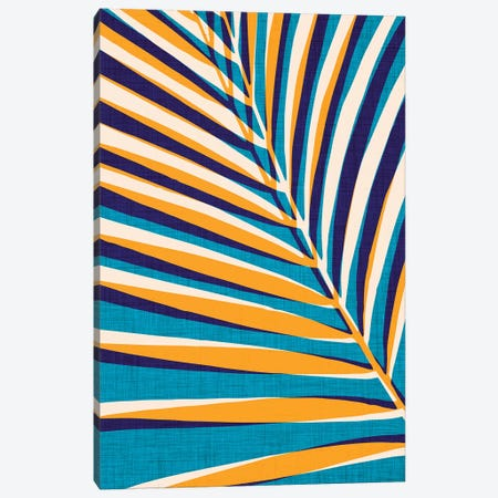 Abstract Palm Leaf Canvas Print #MTP7} by Modern Tropical Canvas Artwork