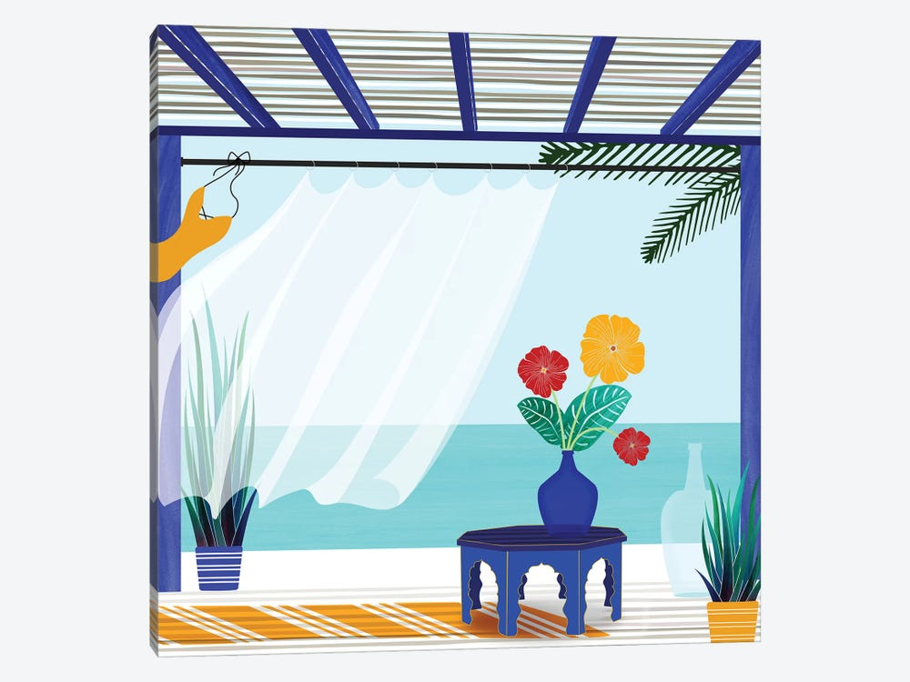 Villa By The Sea by Modern Tropical 1-piece Canvas Artwork