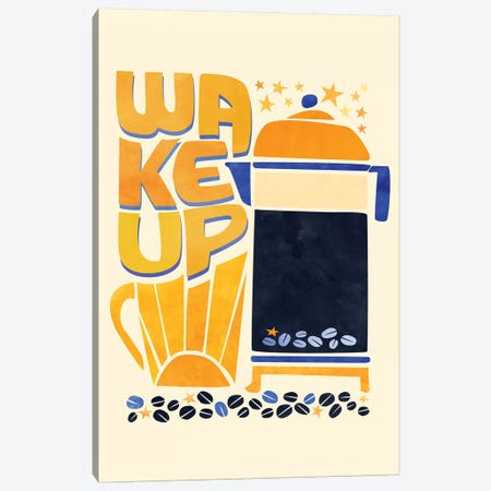 Wake Up Canvas Print #MTP81} by Modern Tropical Canvas Art