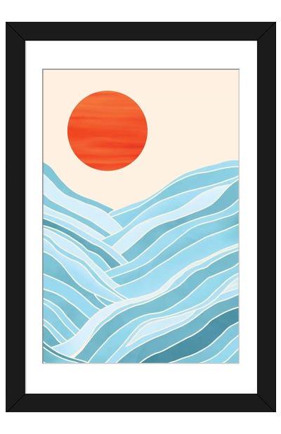 Water Like Mountains Framed Art Print