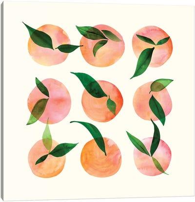 Watercolor Fruit Canvas Art Print