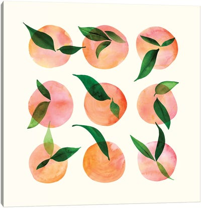 Watercolor Fruit Canvas Art Print