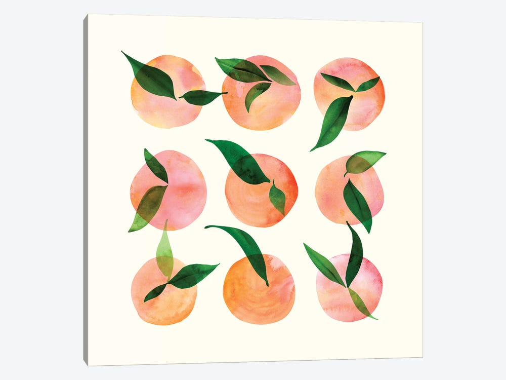 Watercolor Fruit by Modern Tropical 1-piece Canvas Art Print