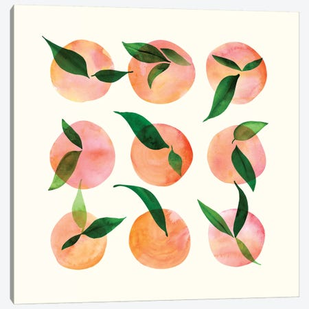 Watercolor Fruit Canvas Print #MTP83} by Modern Tropical Canvas Wall Art
