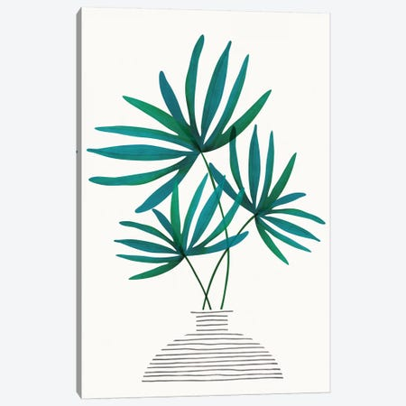 Fan Palm Fronds Canvas Print #MTP85} by Modern Tropical Art Print