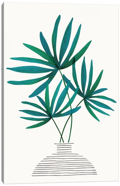 Fan Palm Fronds Canvas Art Print