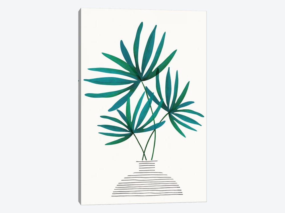 Fan Palm Fronds by Modern Tropical 1-piece Art Print