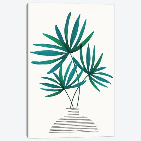 Fan Palm Fronds Canvas Print #MTP85} by Modern Tropical Art Print