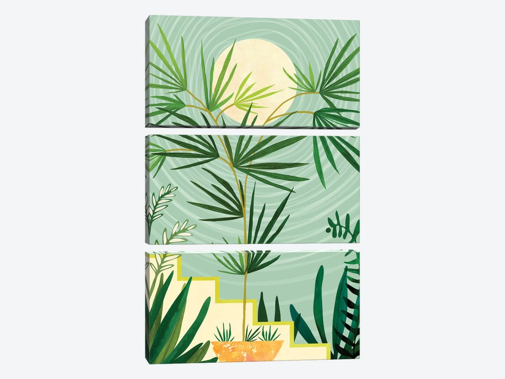 Summer Moon by Modern Tropical 3-piece Art Print