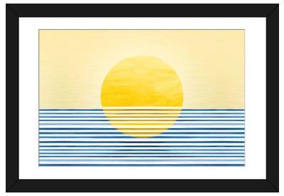 Abstract Sunset II Framed Art Print
