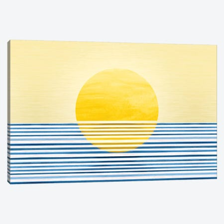Abstract Sunset II Canvas Print #MTP8} by Modern Tropical Canvas Print