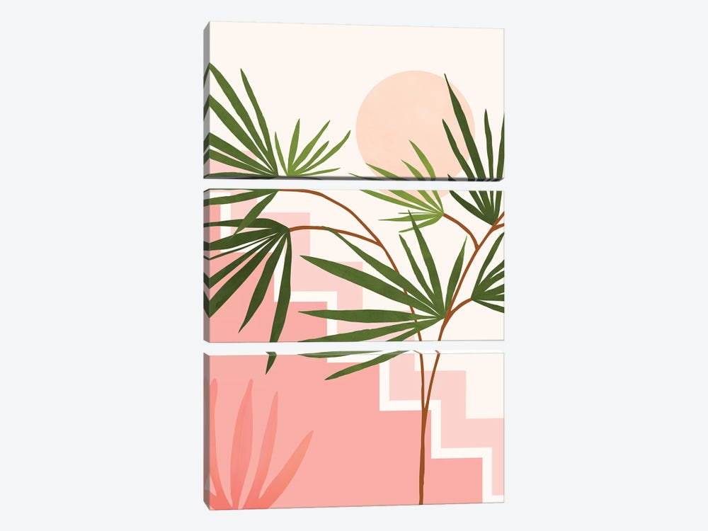 Summer In Belize by Modern Tropical 3-piece Canvas Print