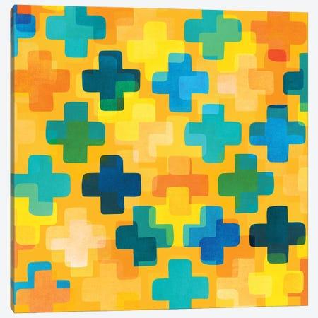 Positivity Canvas Print #MTP92} by Modern Tropical Art Print