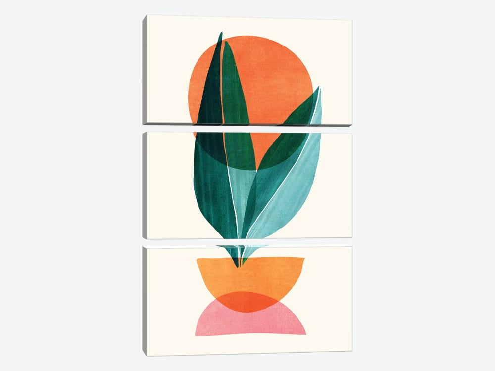 Abstract Nature Stack by Modern Tropical 3-piece Canvas Artwork