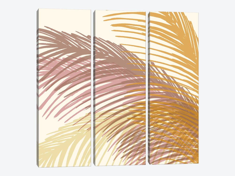 Autumn Palms by Modern Tropical 3-piece Canvas Art